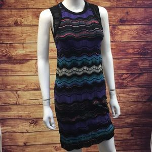 Missoni Purple & Blue Multi Zig Zag Print Dress